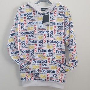 Rare! Polaroid mix logo hoodie size Small